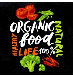 Eco food menu background hand drawn sketch vector