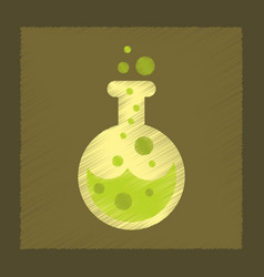 flat shading style icon halloween potion bottle vector image vector image