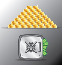 gold money vector image