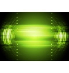 Green abstract technology background vector