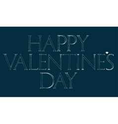 Happy Valentines Day lettering typography vector image vector image