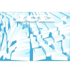 Ice background vector