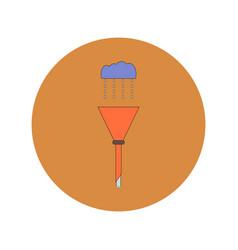 In flat design of drain pipe vector