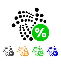 Iota percent icon vector