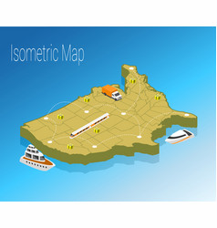 Map america isometric concept vector