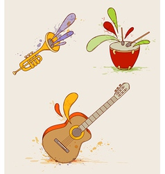 music set vector image vector image