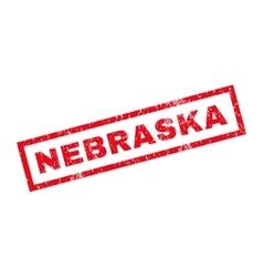 Nebraska rubber stamp vector