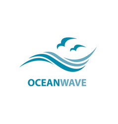 ocean wave logo vector image