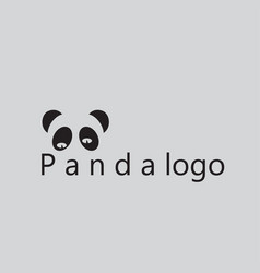 Panda logo ideas design vector
