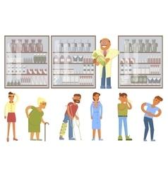 Pharmacy drugstore infographic elements vector