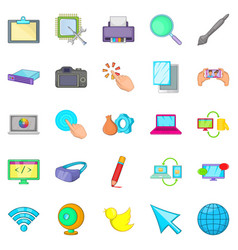 Repair hardware icons set cartoon style vector