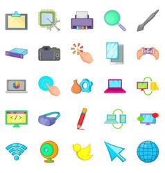 Repair hardware icons set cartoon style vector