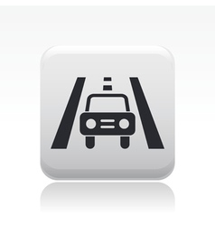 road car icon vector image vector image