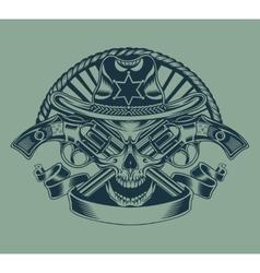 Sheriffs skull vector