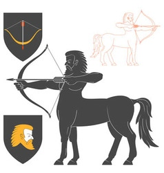 Shooting centaur archer vector