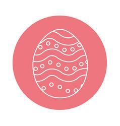 Sticker egg easter decoration design vector