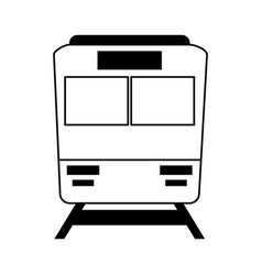 Train frontview icon image vector