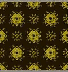 Yellow ornamental seamless line pattern vector