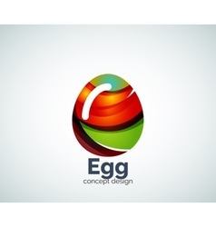 Egg logo template vector