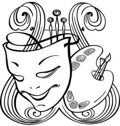 Arts symbols vector image