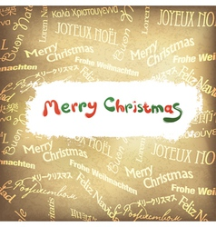 Golden multilingual greetings christmas background vector