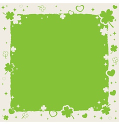 Saint patricks decorative frame vector