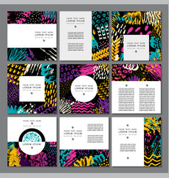 Set of creative business card template and flyers vector