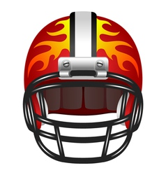 Football helmet with fire vector image