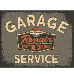 Car service vintage signboard vector image