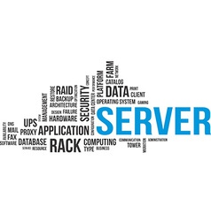 Word cloud server vector