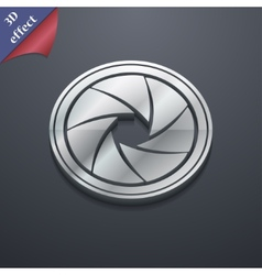 Diaphragm icon symbol 3d style trendy modern vector