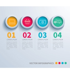 Paper circle infographic vector