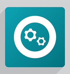 Flat settings icon vector