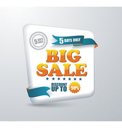 Sale banner shopping vector
