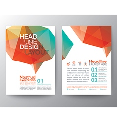 Abstract poster brochure flyer layout template vector
