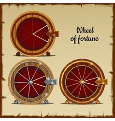 Archaic wheel of fortune with sector vector