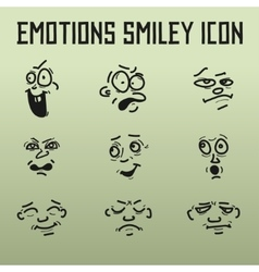 Different emotions for comics on the old vector
