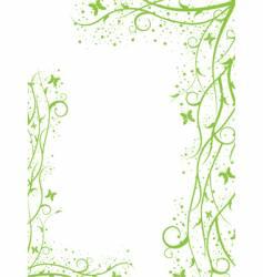 green border vector image
