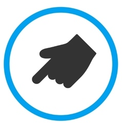 Down left index finger icon vector