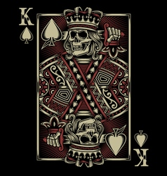 Skull playing card vector