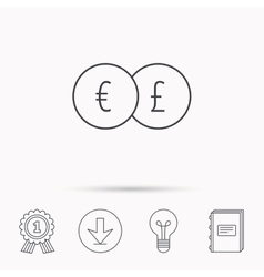 Currency exchange icon banking transfer sign vector