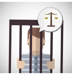 Law design justice icon flat vector