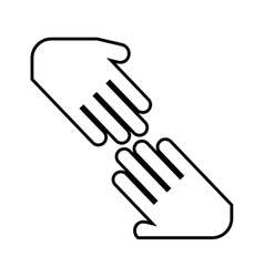Hands shake isolated icon design vector
