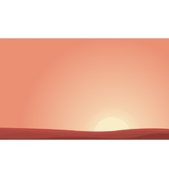 Background of desert at sunset landscape vector