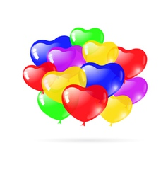 Beautiful party balloons vector image vector image