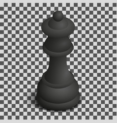 Black queen chess piece in isometric vector
