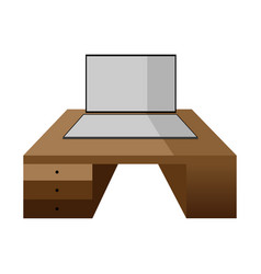 computer monitor with graphic tablet of gray and vector image vector image