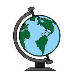 earth globe icon image vector image vector image