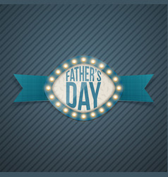fathers day realistic banner with ribbon vector image