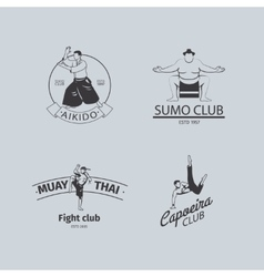 Fight club logo set vector